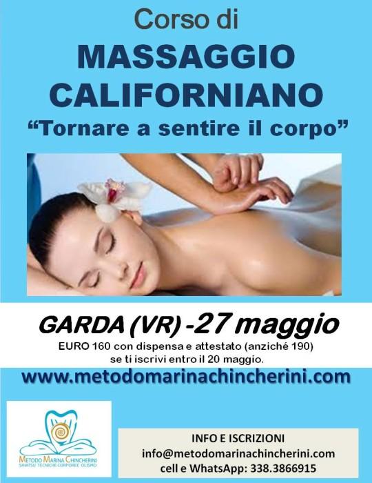 CORSO DI MASSAGGIO CALIFORNIANO Metodo MC