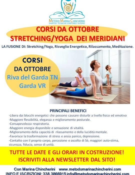 Corsi di STRETCHING/YOGA DEI MERIDIANI. Metodo MC