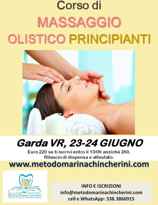 CORSO DI MASSAGGIO OLISTICO PRINCIPIANTI.  METODO MC