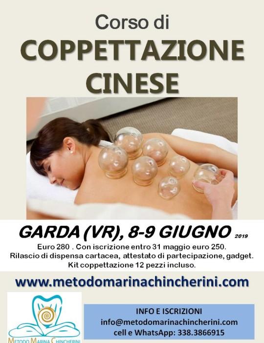 CORSO DI COPPETTAZIONE CINESE, GIUGNO, GARDA VR METODO MC