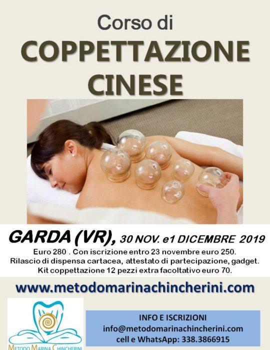 CORSO DI COPPETTAZIONE CINESE, NOVEMBRE GARDA VR METODO MC
