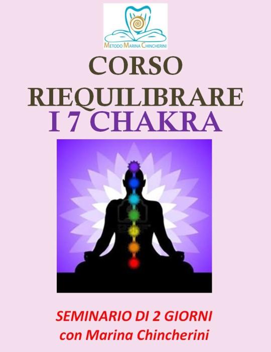CORSO RIEQUILIBRARE I 7 CHAKRA. METODO MC