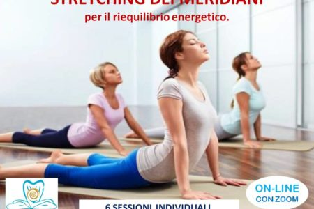 6 SESSIONI PRIVATE ON-LINE. STRETCHING DEI MERIDIANI. METODO MC.