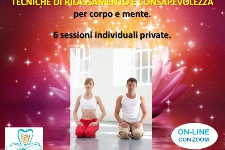 ON-LINE. 6 SESSIONI DI TECNICHE DI RILASSAMENTO E CONSAPEVOLEZZA PER CORPOMENTE. MMC