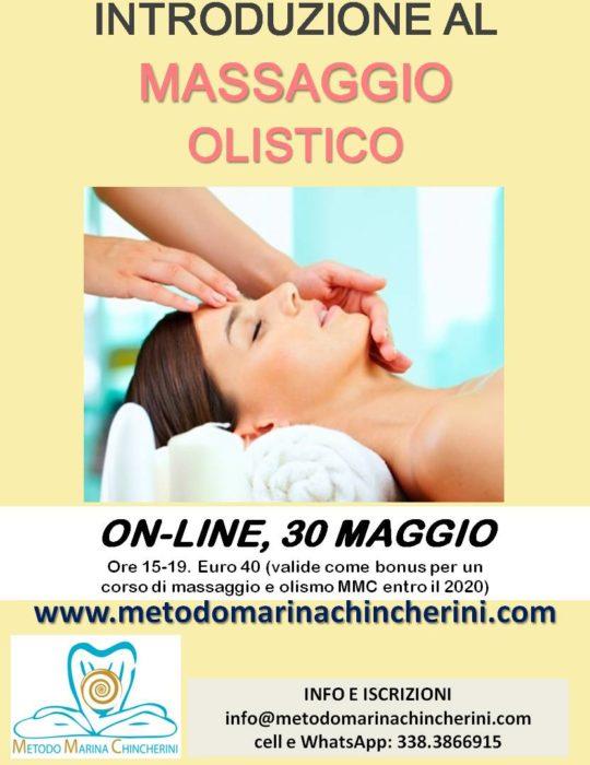 ON-LINE, 30 MAGGIO. INTRODUZIONE AL MASSAGGIO OLISTICO MMC. + BONUS