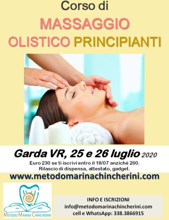 CORSO DI MASSAGGIO OLISTICO PRINCIPIANTI. GARDA VR, LUGLIO. MMC