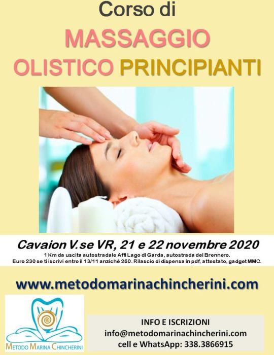 CORSO MASSAGGIO OLISTICO PRINCIPIANTI. CAVAION, LAGO DI GARDA