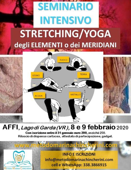 SEMINARIO INTENSIVO DI STRETCHING DEI MERIDIANI, FEBBRAIO 2020, AFFI VR. MMC.