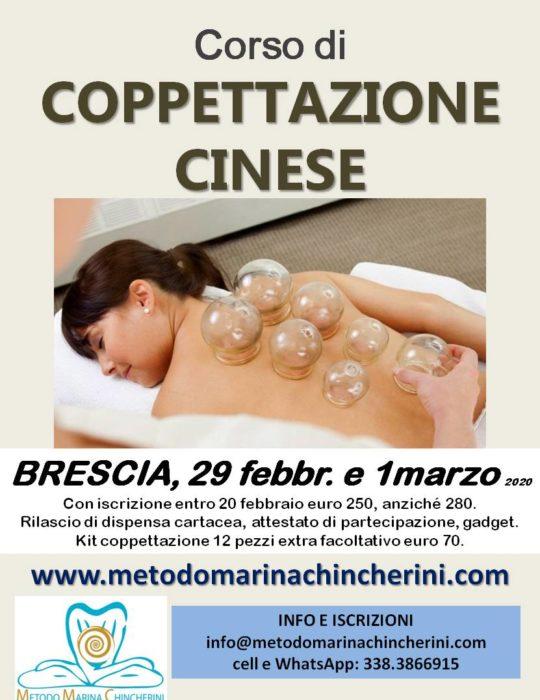 CORSO DI COPPETTAZIONE CINESE, FEBBRAIO, BRESCIA, METODO MC