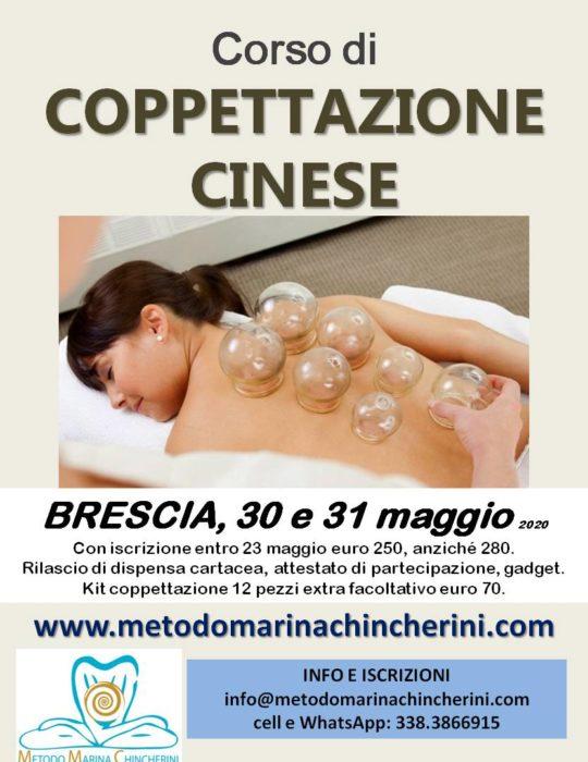 CORSO DI COPPETTAZIONE CINESE, BRESCIA, MAGGIO, METODO MC