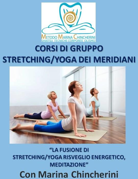 CORSI DI GRUPPO DI STRETCHING/YOGA DEI MERIDIANI. METODO MC