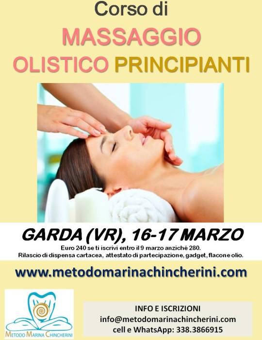 CORSO DI MASSAGGIO OLISTICO PRINCIPIANTI METODO MC