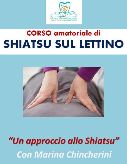 CORSO AMATORIALE DI SHIATSU SUL LETTINO. METODO MC
