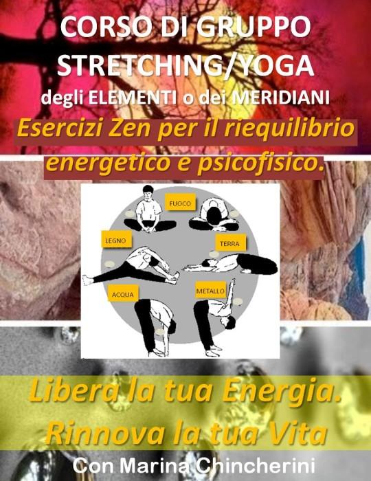 CORSI DI GRUPPO DI STRETCHING/YOGA DEGLI ELEMENTI (O DEI MERIDIANI). METODO MC